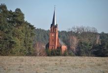 Zempower Dorfkirche im Januar